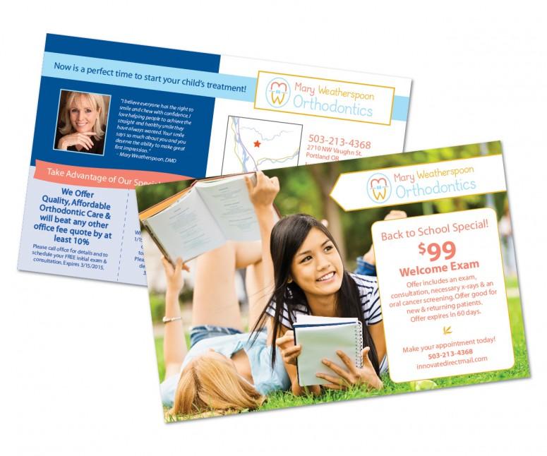 "5.5"" x 8.5"" Dental Direct Mail postcard"