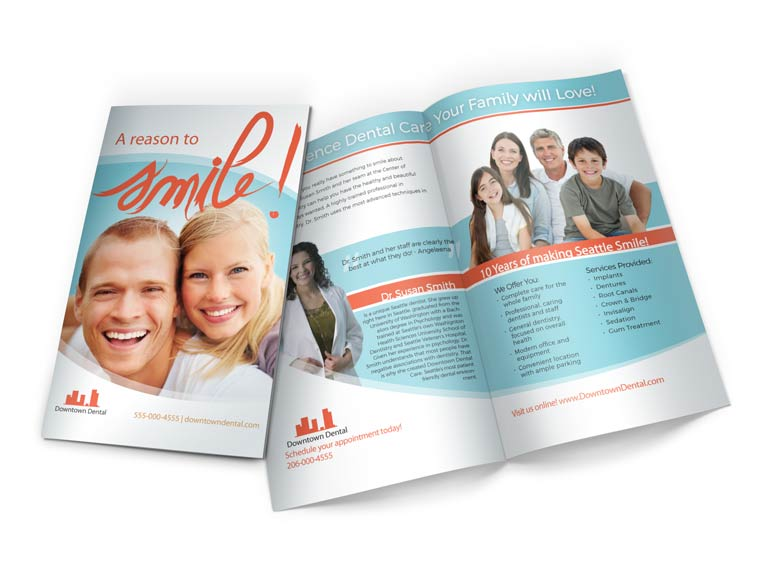 Dental Direct Mail Half Fold Brochure