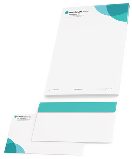 Dental Stationery - Letterhead & Envelope